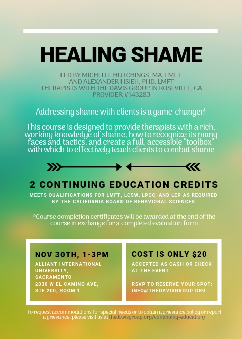 Healing Shame The Davis Group